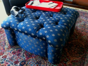 The style of ottoman I'd been trying to find for years is not my most important find at the Merc on Main.