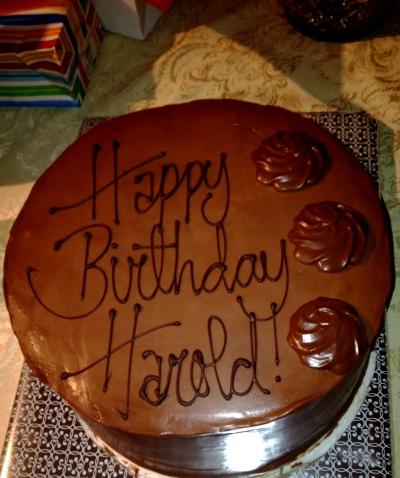 Happy Birthday Harold Cake
