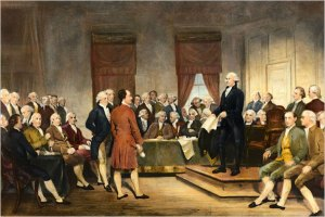 Constitutional Convention, George Washington presiding