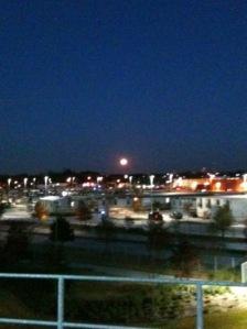 Moon over Parkland DART Station
