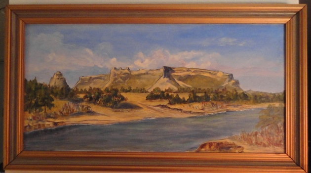 Scotts Bluff National Monumentpainted by Ruth Wright