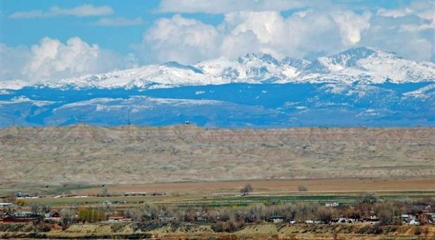 Looking east from Worland, Wyoming