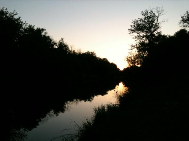 An evening walk by the Paluxy