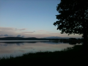 The lake at Arvika at dawn