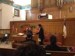 A glimpse of the Austin Organ