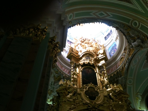 A glory of St. Petersburg: the high altar at the Cathedral of Sts. Peter and Paul