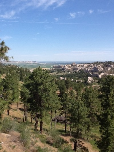 Looking north toward Scottsbluff from the Wildcat Hills, courtesy Mary Kalen Romjue-who also knew Mrs. Wilks