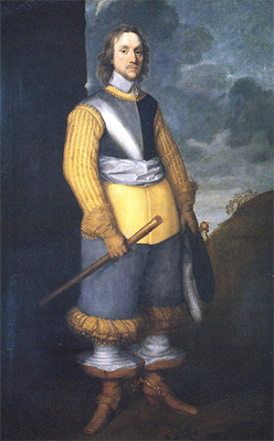 Oliver Cromwell, by Robert Walker, 1650