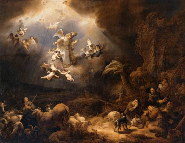 Angels and Shepherds, Govaert Teuniszoon Flinck, 1639