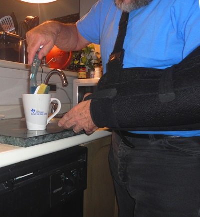 Washing dishes is, believe it or not, a two-handed job.