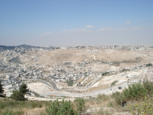 Israeli settlements in the Cremisan Valley (photo by Harold Knight)