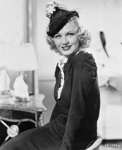 Ginger Rogers in her Lilly Daché