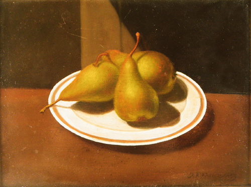 John F. Francis (American, 1808–1886), Still Life with Pears