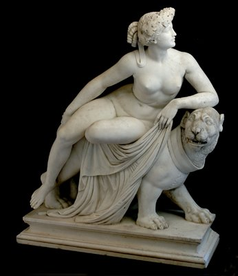 Cybele and her ox-eating lion