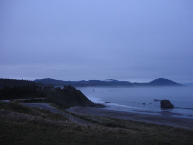 Sunrise at Port Orford, Oregon