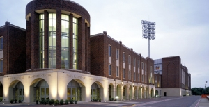 Where the athletic tutors offer support (Ford Stadium at SMU)