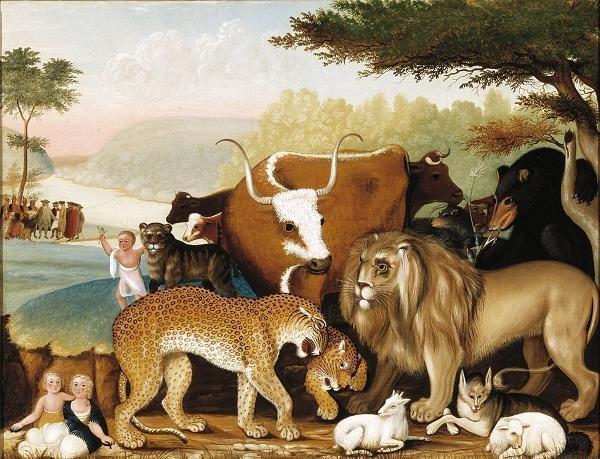 """The Peaceable Kingdom,"" Edward Hicks, 1848"
