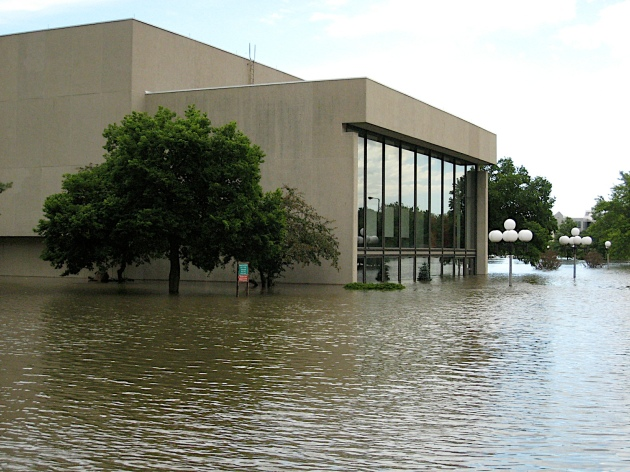 The flood of 2008, Iowa City. Even the organ was destroyed.