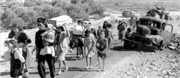 Fleeing from Deir Yassin, April 9, 1948