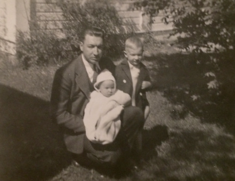 Dad, brother, and little me - how I know life is more than satifactory