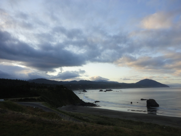 Sunrise at Port Orford, July 15, 2011