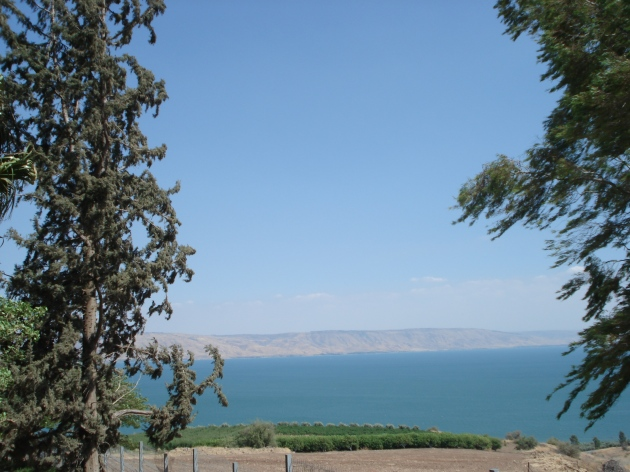 The Sea of Galilee (Photo by Harold Knight, August 2008)