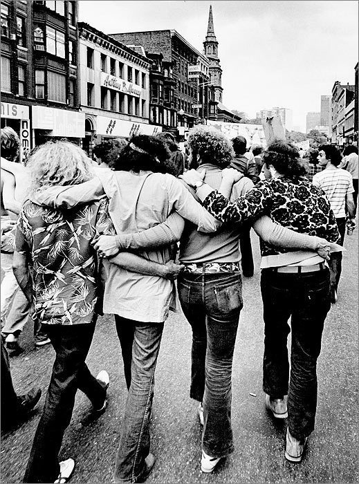 The First Gay Pride Parade in Boston, 1970.