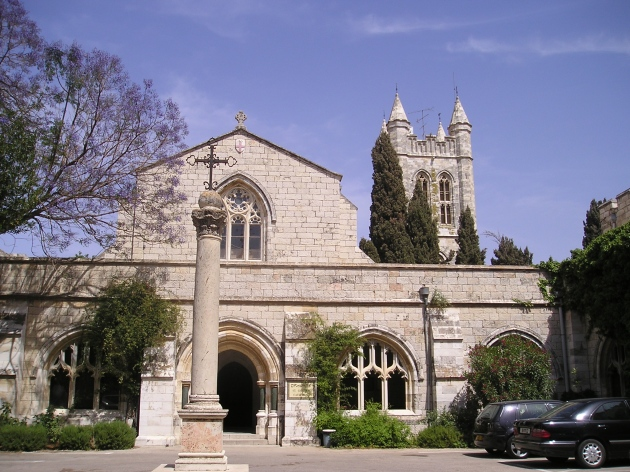 St. George Episcopal Cathedral,. Jerusalem. Not a mirage.