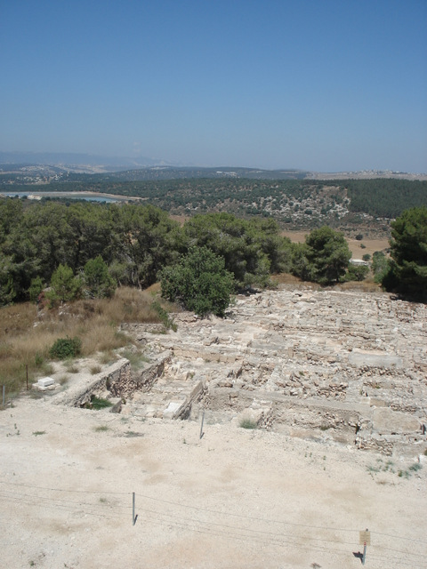 Looking toward Lebanon from an archaeological site (I don't remember the name--that's my main problem with travel pics).
